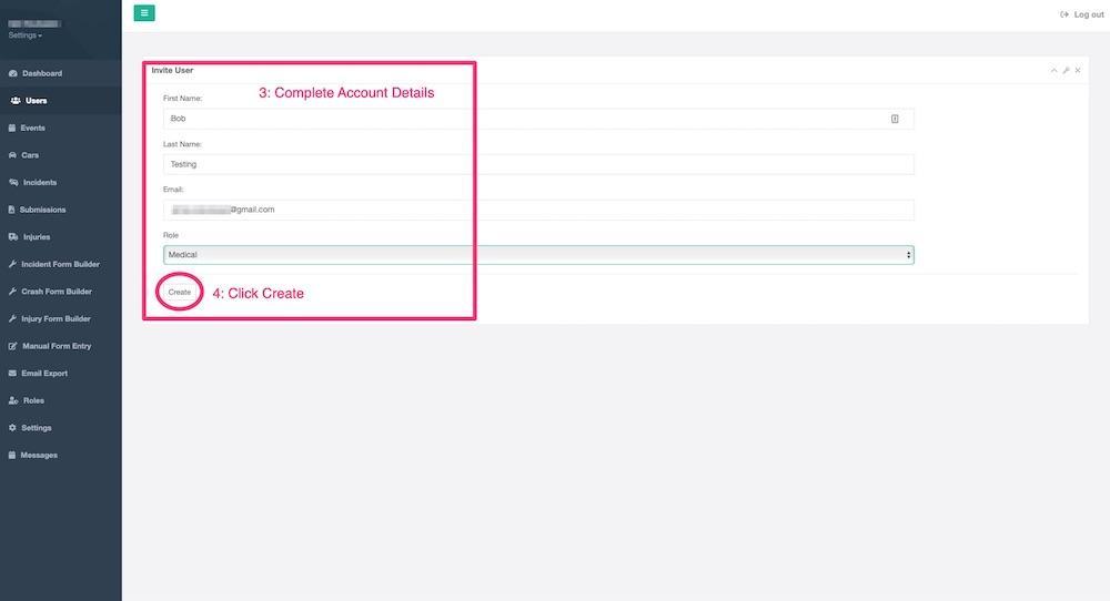 Invite user step 3 & 4